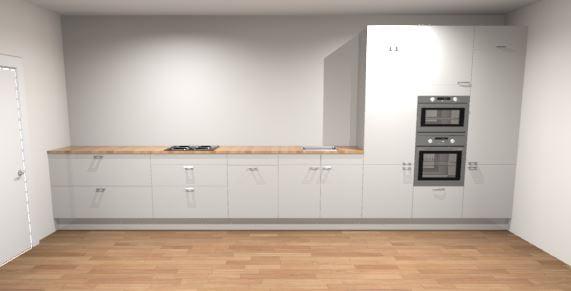 Design rechte keuken 550 cm borne de keukenbaas for Keuken 3d planner