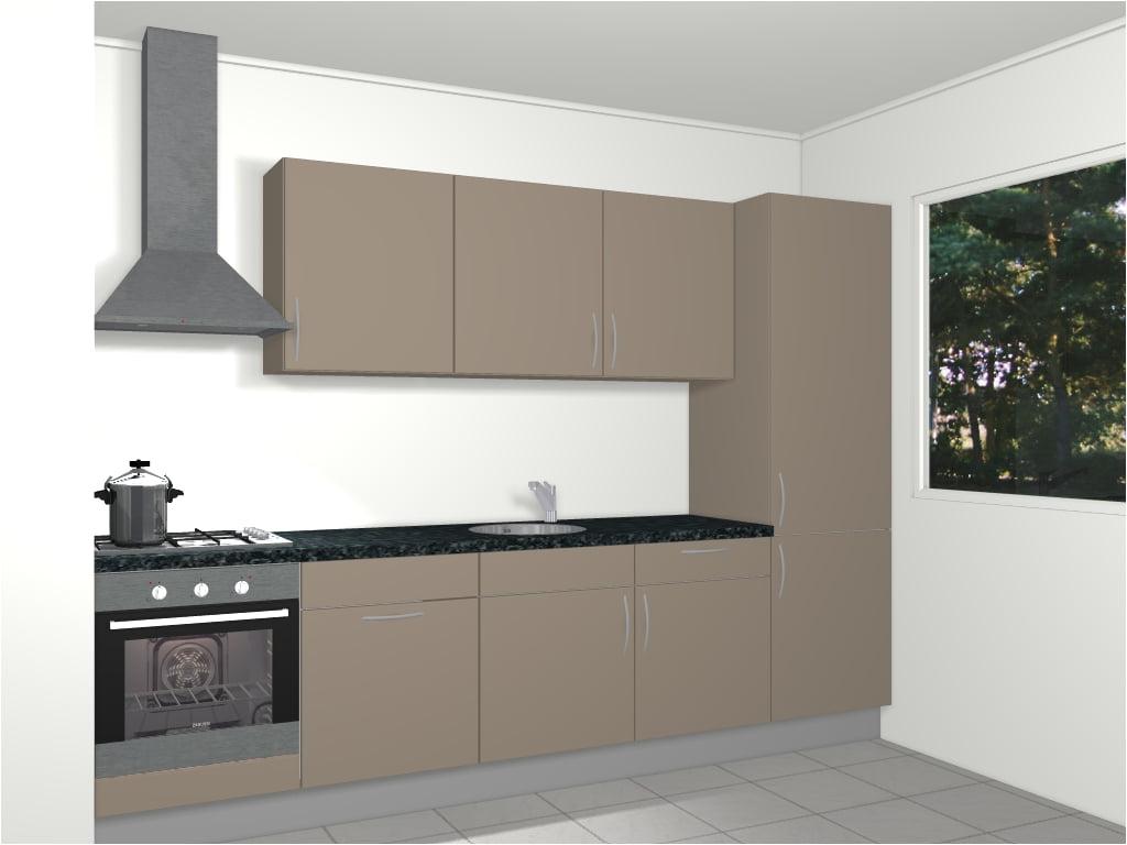 Handgrepen Keuken Monteren : Design rechte keuken 300 cm Monaco De Keukenbaas