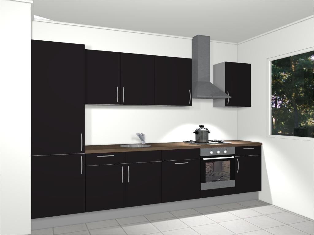 Design rechte keuken 330 cm lyon de keukenbaas for 3d planner keuken