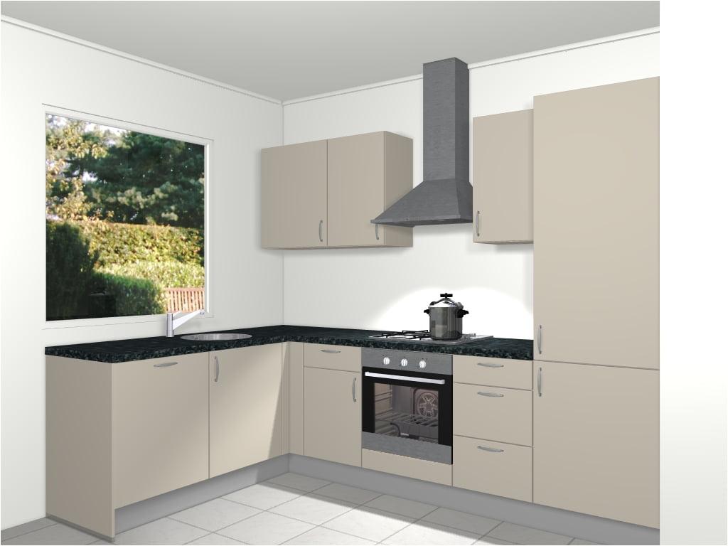 Design hoekkeuken 280 x 186 6 cm helsinki de keukenbaas for Keuken 3d planner