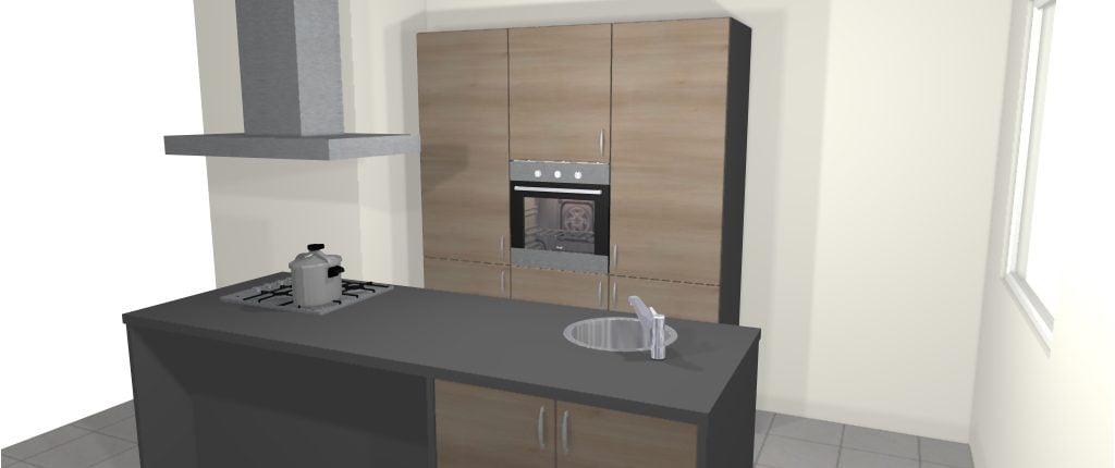 Design keuken met kookeiland enschede de keukenbaas for Keuken 3d planner