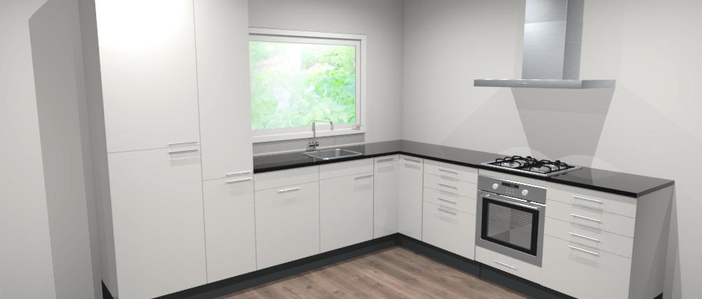 Landelijke hoekkeuken 317 x 270 cm boston de keukenbaas for Keuken 3d planner