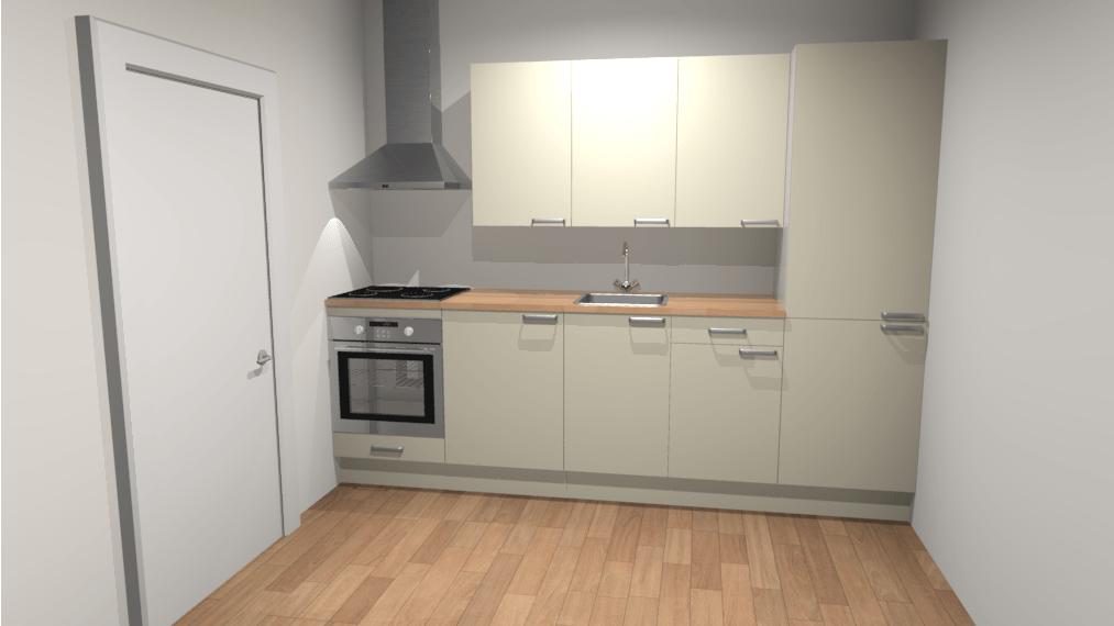 Rechte keuken 280cm liverpool de keukenbaas for Keuken 3d planner