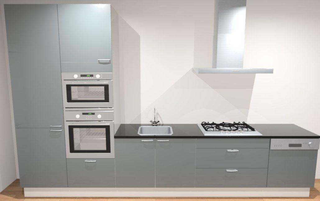 Design rechte keuken 370 cm amsterdam de keukenbaas for Keuken offerte vergelijken