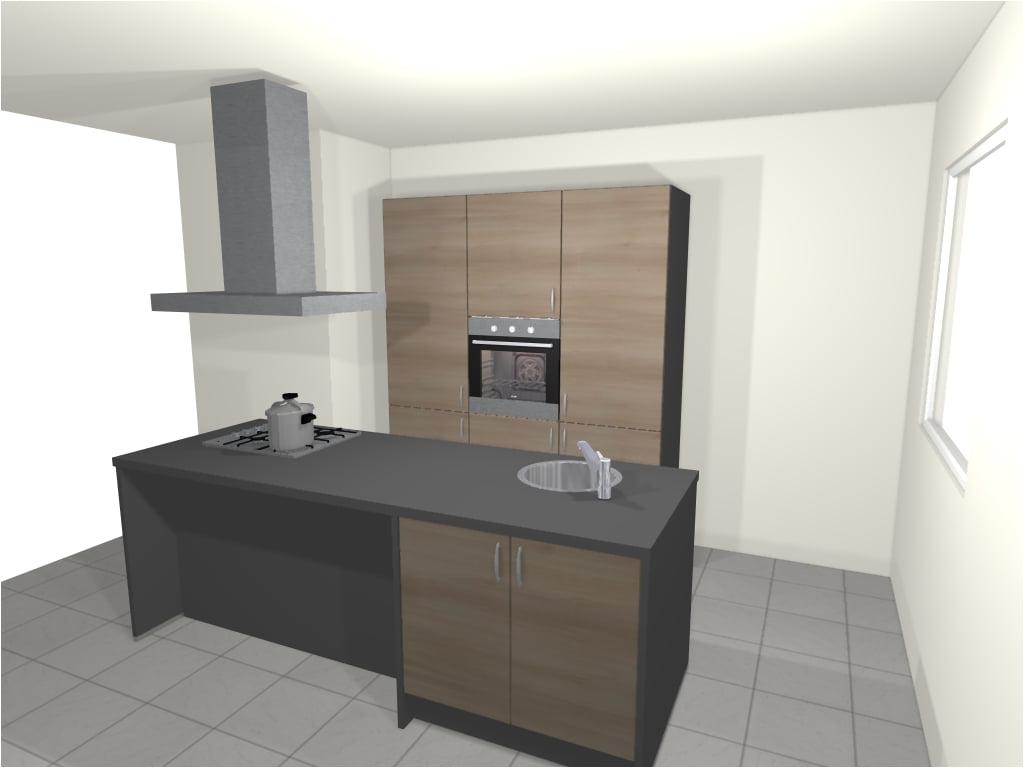 Design keuken met kookeiland enschede de keukenbaas for 3d planner keuken
