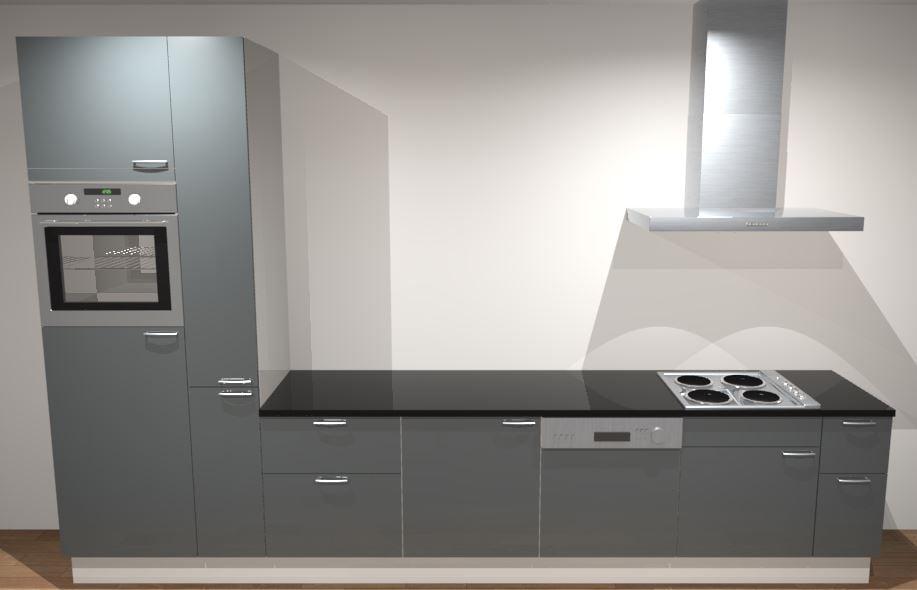 Afbeeldingen Design Keukens : Design rechte keuken 300 cm met apothekerskast brussel de keukenbaas