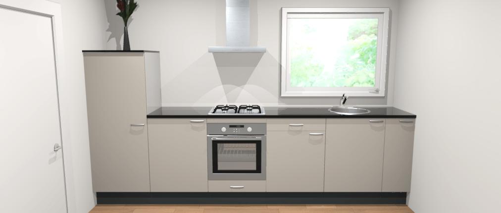 Rechte keuken 330cm manhattan de keukenbaas for Keuken 3d planner